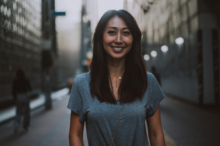 Beautiful japanese woman portrait outdoor Stock Photo - 110093589