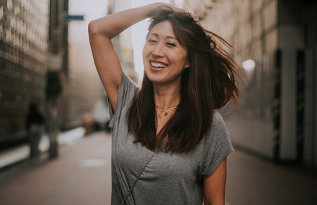 Mooi Japans vrouwenportret buiten