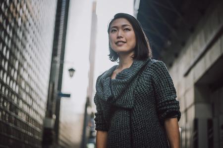 Beautiful japanese woman portrait outdoor