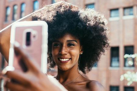 Beautiful american girl posing  in New york