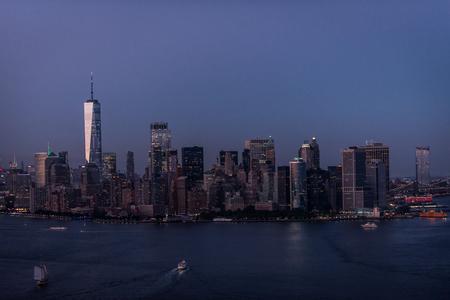 View of NY landmarks from helicopter tour Zdjęcie Seryjne