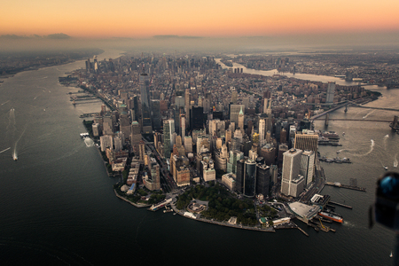 View of NY landmarks from helicopter tour Stock fotó