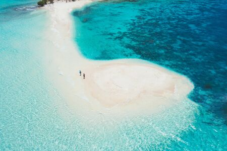 Ditaytayan island in the philippines, coron province. Aerial shot from drone about vacation,travel and tropical places Stock Photo