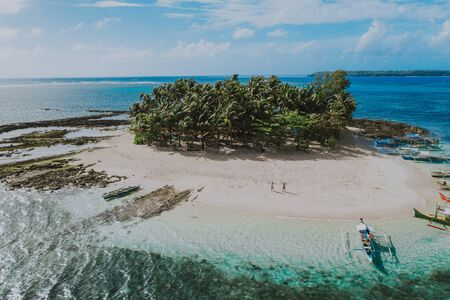 Guyam island view from the sky. shot taken with drone above the beautiful island. concept about travel, nature, and marine landscapes Фото со стока