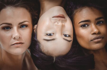 Face portraits with women of different ethnicities. Concept about woman , and human mankind Stock Photo