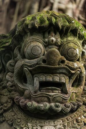 Statue in the sacred Monkey Forest, Ubud, Bali, Indonesia