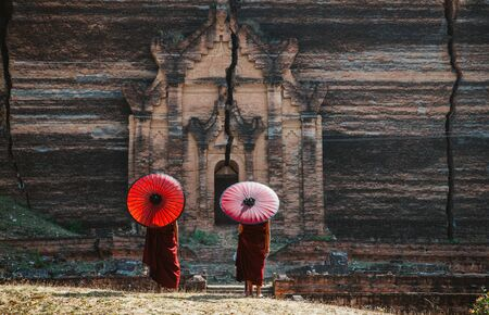 Two Monk on the way to the temple