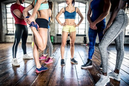 Mixed race group of athlete at the gym