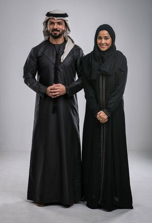 Middle eastern couple portraits Stock Photo