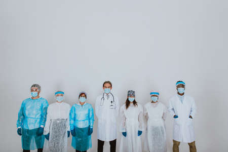 2020 heroes. Image with medical staff, nurses and doctors. Concept about health care and medicine Archivio Fotografico - 157975690