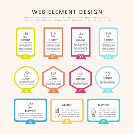 Infographics design template with place for your text. Vector illustration