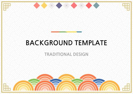 Korean traditional background template design