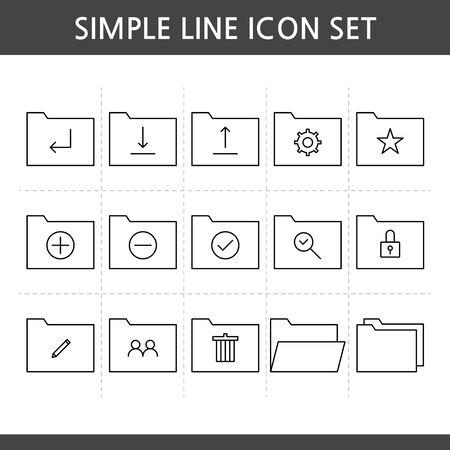 Vector illustration of thin line icons Foto de archivo - 132464921