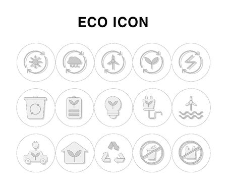 Simple line icons set for ECO