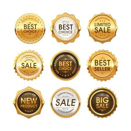 Set of Best Choice, Sale, New Product labels. Stock Illustratie