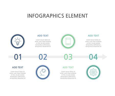 Presentation business infographics template. Vector illustration.
