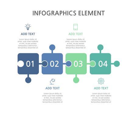 Presentation business infographics template. Vector illustration. Foto de archivo - 144471031