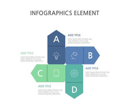 Presentation business infographics template. Vector illustration. Foto de archivo - 144471033