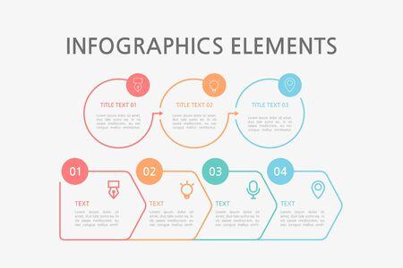 Presentation business infographics template. Vector illustration. Foto de archivo - 145036010