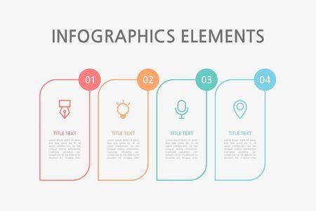 Presentation business infographics template. Vector illustration. Foto de archivo - 145036014