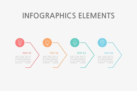 Presentation business infographics template. Vector illustration. Foto de archivo - 145036013