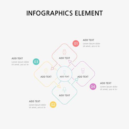 Presentation business infographics template. Vector illustration. Foto de archivo - 145565463