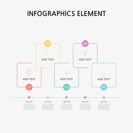 Presentation business infographics template. Vector illustration. Foto de archivo - 145565468