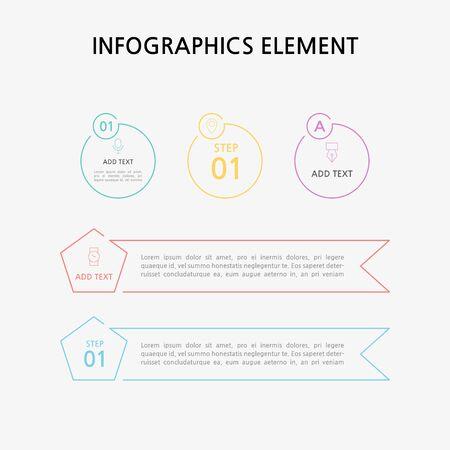 Presentation business infographics template. Vector illustration. Foto de archivo - 145565470