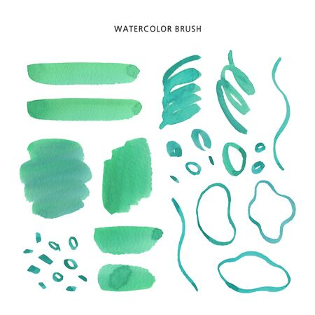 watercolor stains Set of brush strokes Invitation design