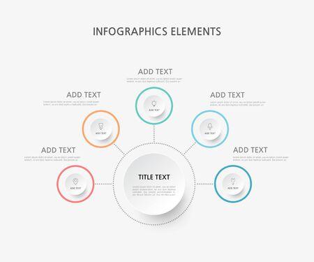 Presentation business infographics template. Vector illustration. Foto de archivo - 146202914