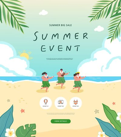 summer shopping event illustration. Banner Foto de archivo - 146763828