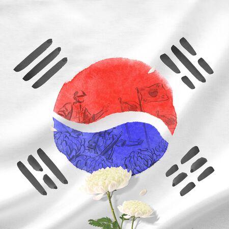 Memorial Day in Korea.Remembrance Foto de archivo