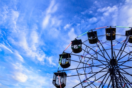 Ferris wheel against sky background photo