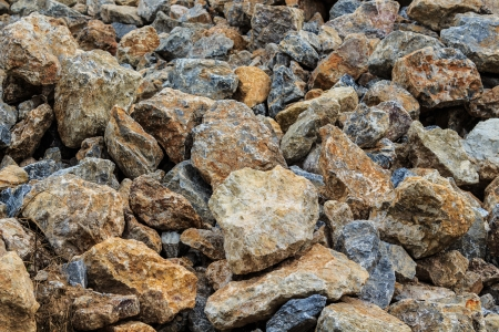 A pile of stone at a construction site. photo
