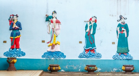 Chinese goddess on the wall photo