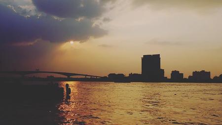 Chao Phraya River Stockfoto