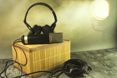 Equipment of music in the spotlight.
