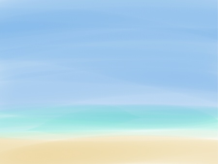 blown: Background Picture of Empty beautiful beach There are blown sand green sea and blue sky
