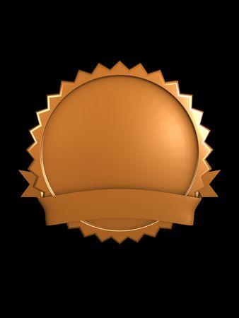 3d image, best brand badge, Bronze photo
