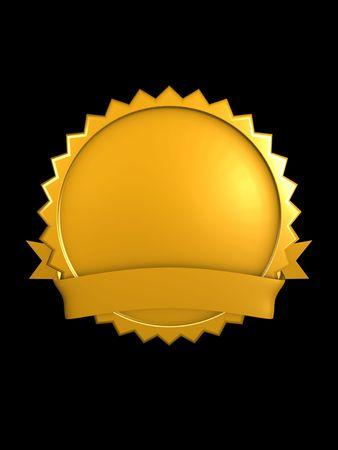3d image, best brand badge, Gold Stock Photo