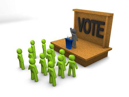 3d image, conceptual political campaign