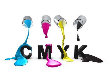 3d, image, Conceptual, Color code-Cmyk