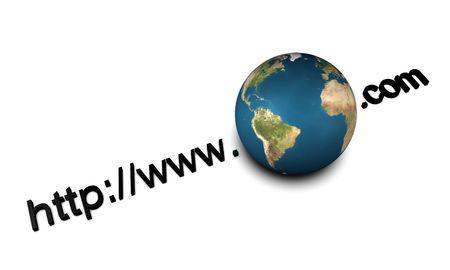 worldwide web: Imagen 3D, conceptual, en todo el mundo web