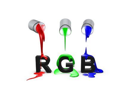 3d, image, Conceptual, Color code-Rgb