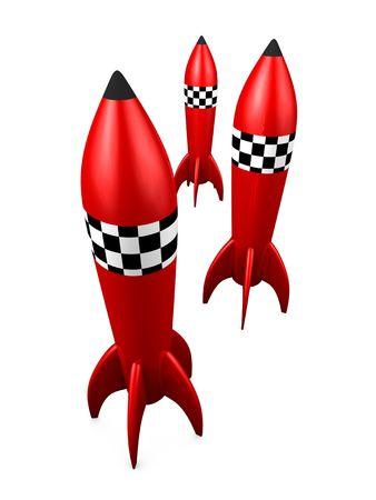 3d image, Rocket toy, isolated background photo