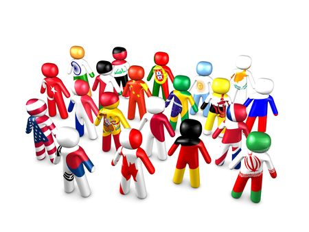 3d image, conceptual unite nations