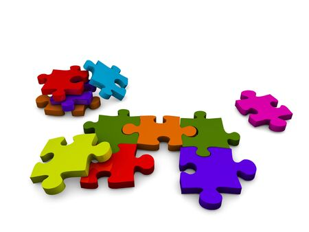 undone: 3d, image, Undone puzzle game Stock Photo