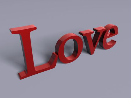 3d image, love text Stock Photo - 3546303