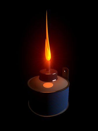 3d image, conceptual Pelita (Oil lamp) Stock Photo