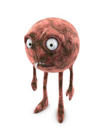bacterias: Imagen 3D, conceptual - bacterias, virus, c�lulas cancer�genas  Foto de archivo